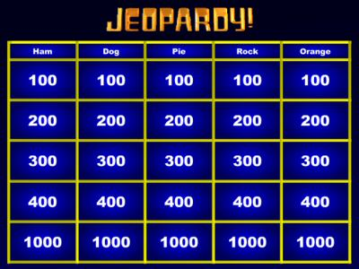 Jeopardy Maker – Blank Jeopardy Template