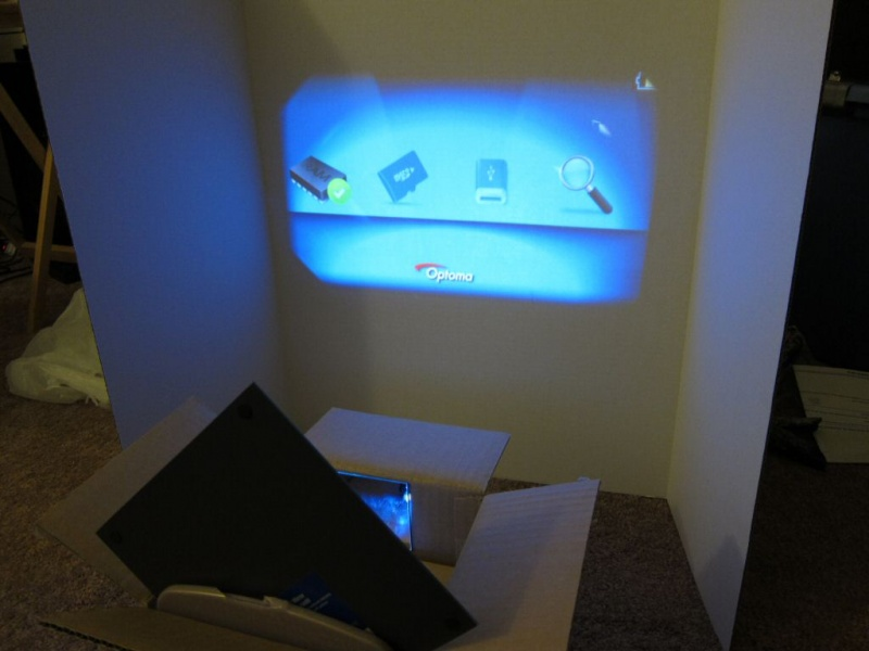 Using mirrors to decrease projector throw ratio for Mirror projector