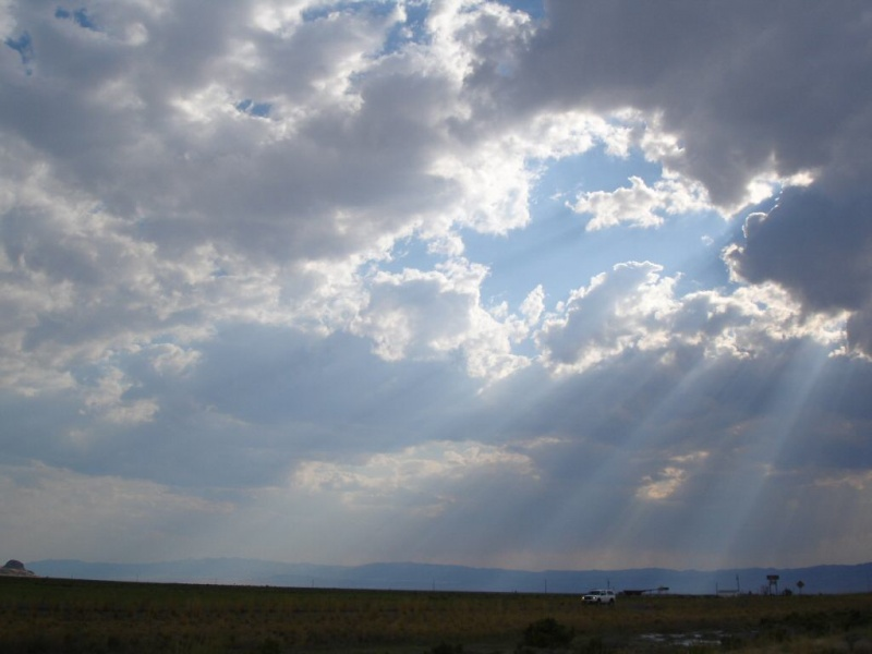Sun Rays Through Clouds